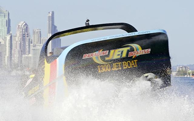 Paradise-Jet-Boating-Gold-Coast-Bow-returning-to-Surfers-action